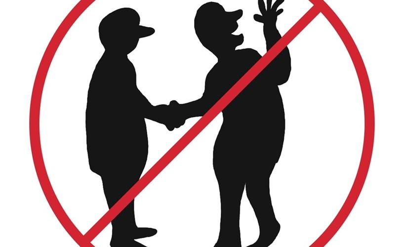 The holy handshake
