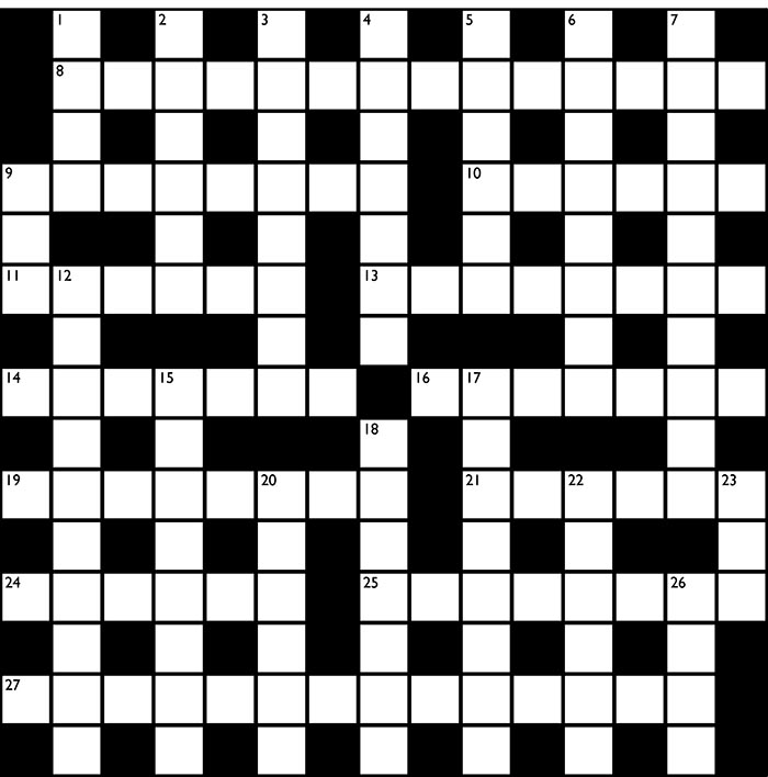 Crossword no 1288 for Farcical xword