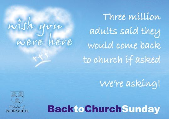 Inviting people back to the future church
