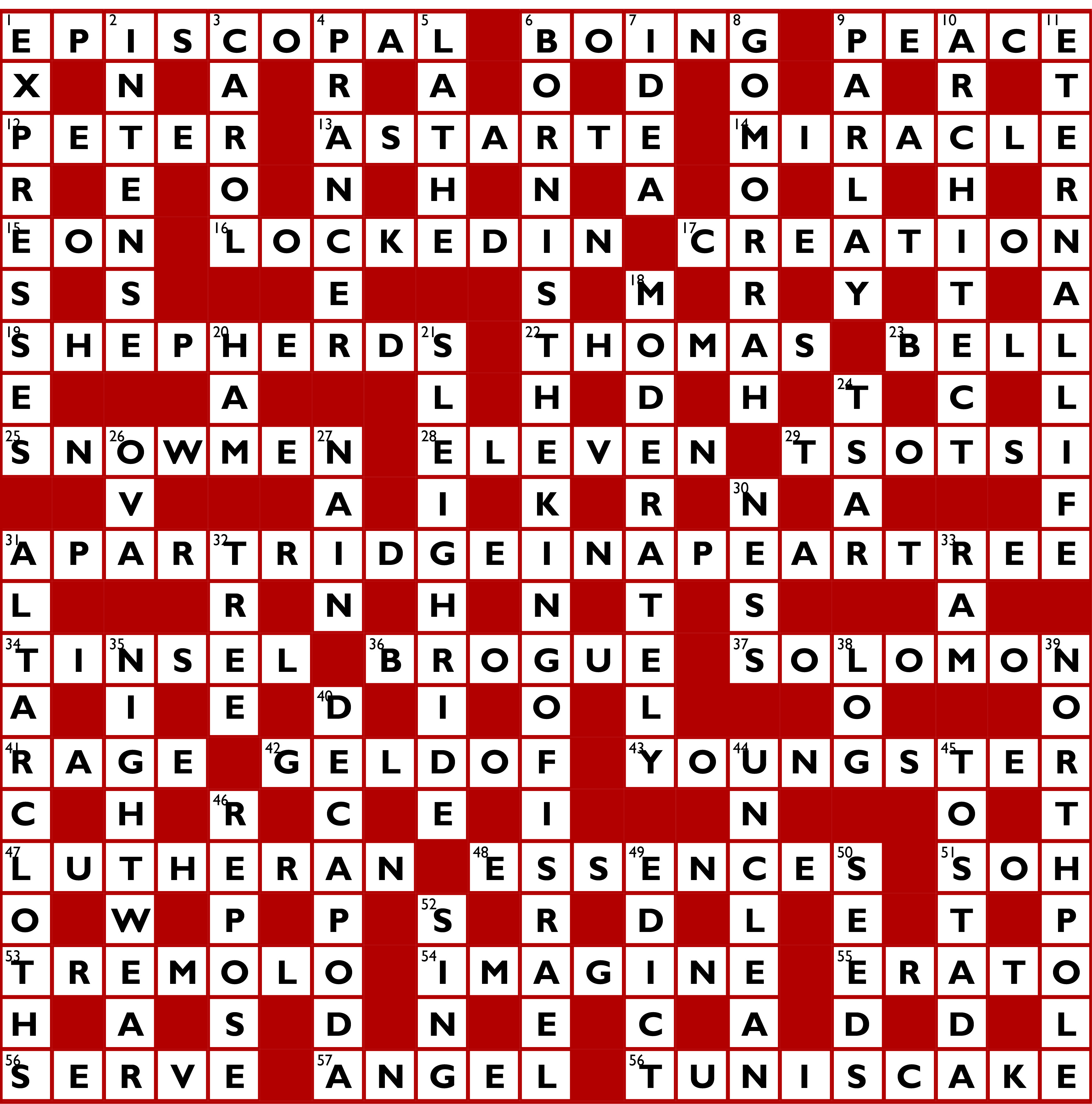 answers for the 2016 christmas crossword - Christmas Crossword Answers