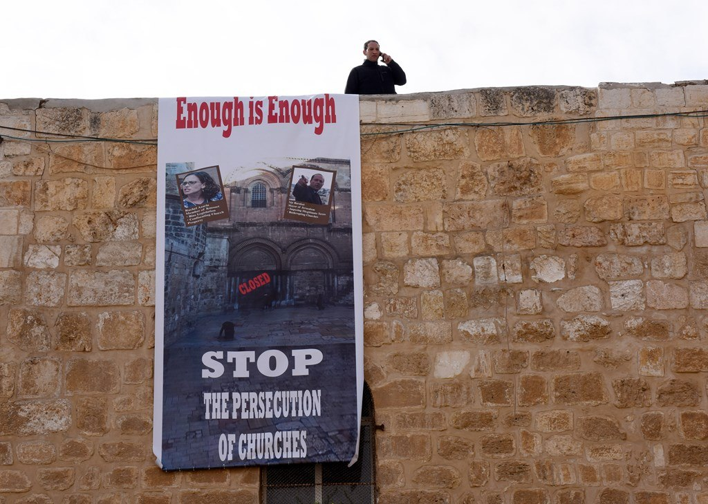 Jerusalem's Holy Sepulchre Church shut in protest against govt. policy
