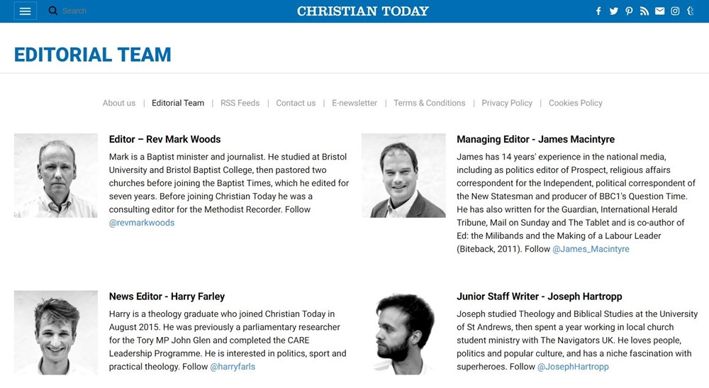 Christian Today sheds its reporters