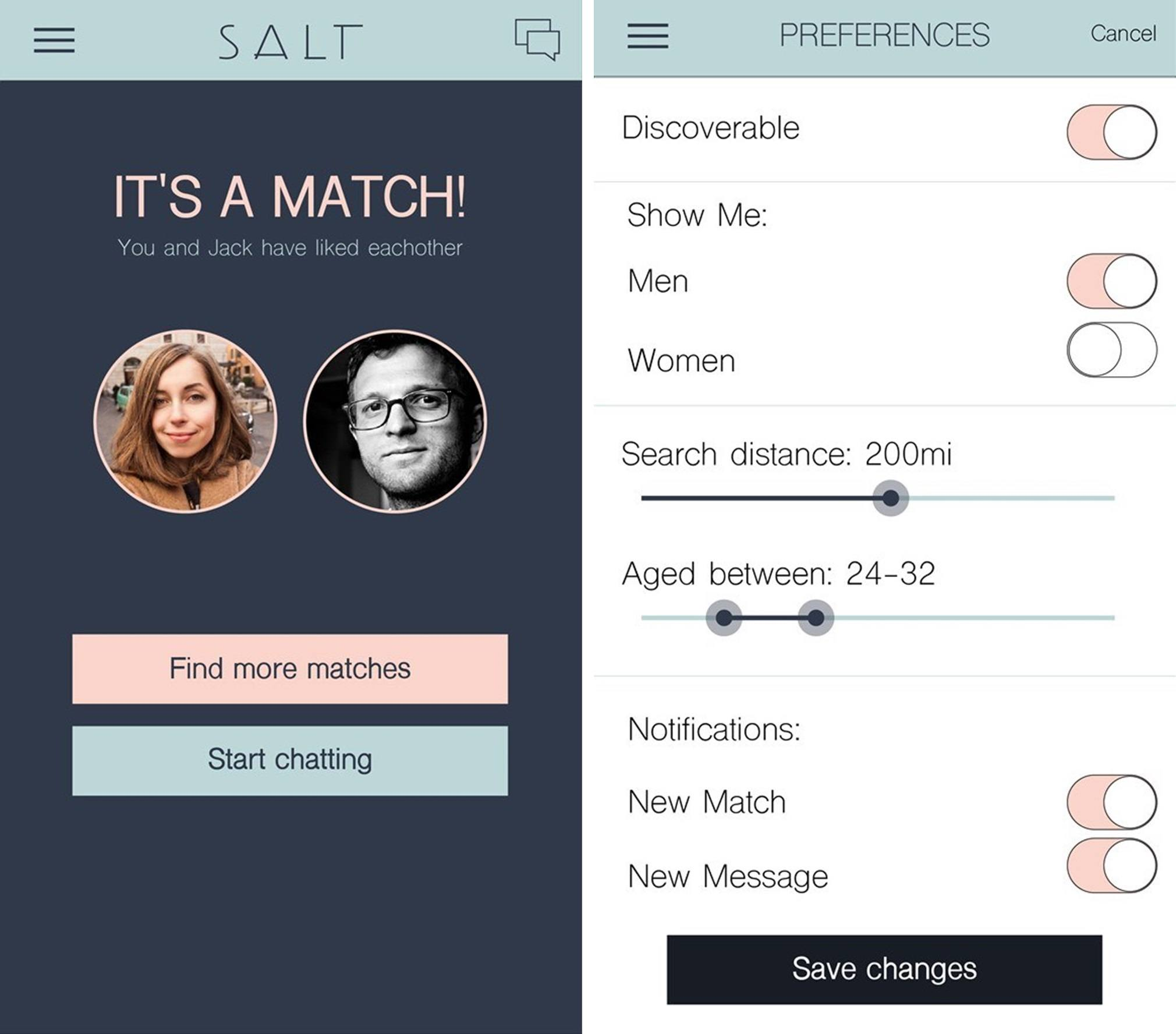 Web dating app