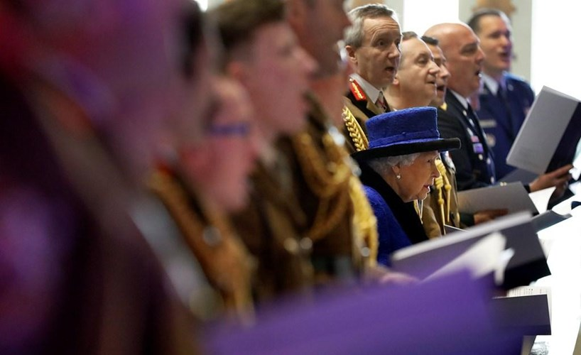Queen attends service to honour Army chaplains