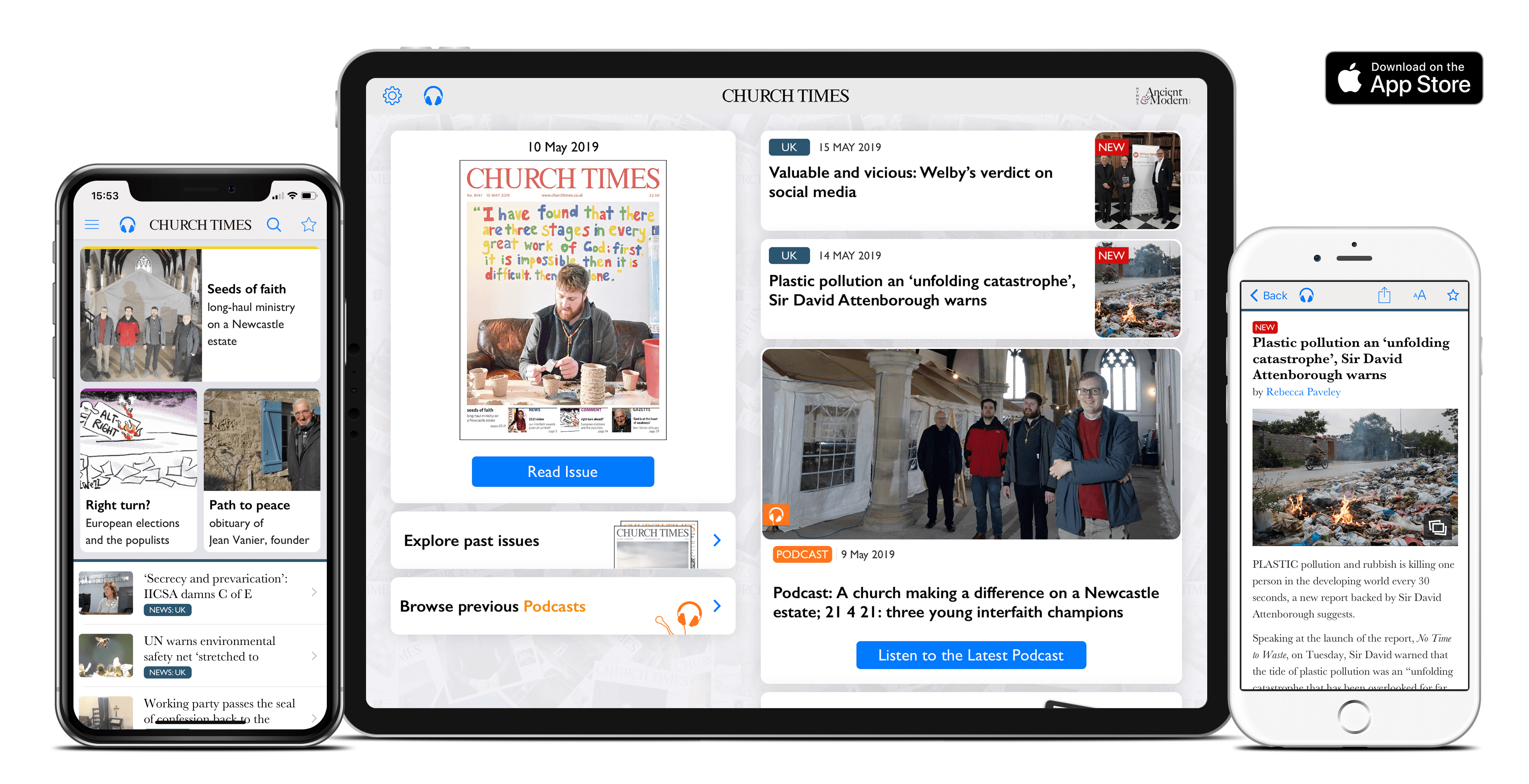 The Church Times App for iPhone and iPad