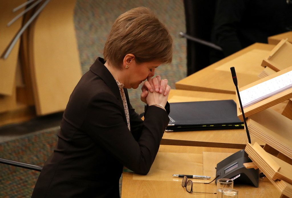 Sturgeon orders Scots to stay home